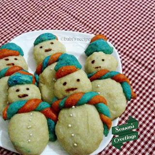 Snowman Cookies-eggless | Christmas Bakes