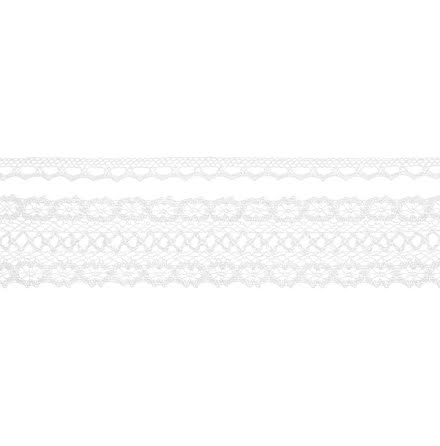 2 st Spetsband vit