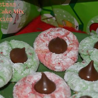 Christmas Vanilla Cake Mix Cookies.