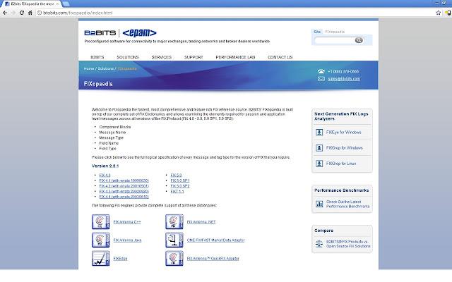 B2BITS FIX 4.2 FIXopaedia Search