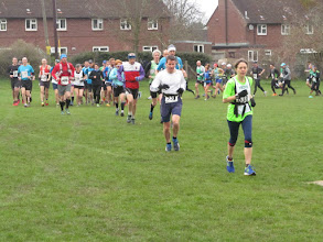Photo: Sophie Brooke leading the pack ...