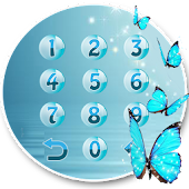 Butterfly blue gleam theme