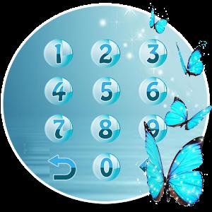 Butterfly blue gleam theme