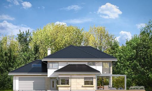 Dom z widokiem 6 B - Elewacja przednia