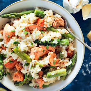 Asparagus Risotto with Salmon Recipe