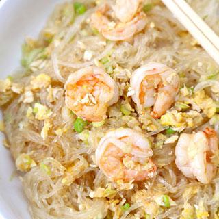 Stir Fried Glass Noodles with Shrimp Recipe