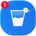 Water Reminder - drink water on time daily icon