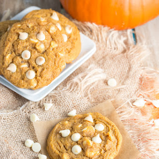 Chewy White Chocolate Pumpkin Cookies.