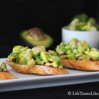 Shrimp and Avocado Crostini