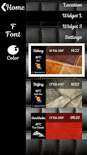 Leather Weather Clock Widget - náhled