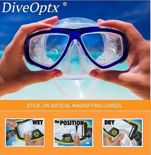 DiveOptx Magnification Lenses for Scuba Masks