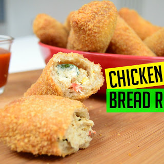 Bread Rolls with Chicken & Cheese   Indian Cooking Recipes   Ramadan Eid Recipe