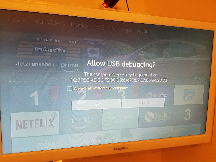 Allow USB debugging? The computer RSA key fingerprint is
