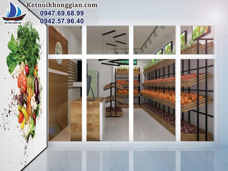 thiết kế cửa hàng rau quả sạch Bina Đông Tác Hà Nội