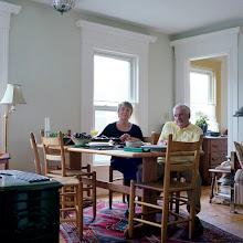 Photo: title: Diane Hudson & Eddie Fitzpatrick, Portland, Maine date: 2011 relationship: friends, art, met through Bakery Photo Collective years known: 5-10