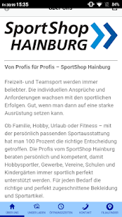 SportShop Hainburg – Miniaturansicht des Screenshots