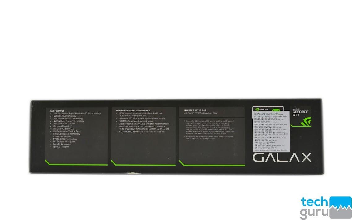 Reciew card đồ họa Galax GTX 960 Black OC Sniper