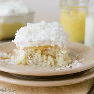 Coconut and Lemon Poke Cake.