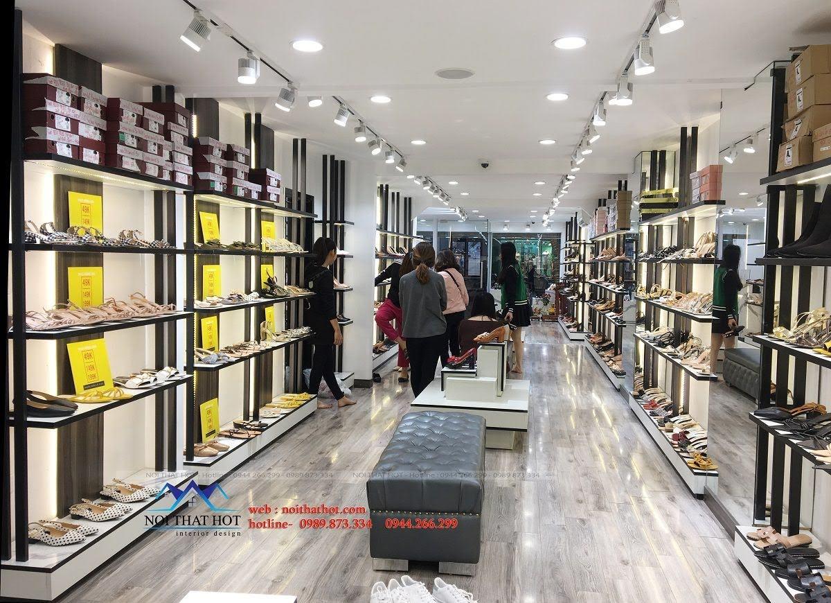 thiết kế thi công shop giày dép thời trang ha huyen 6