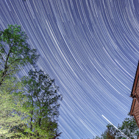 Startrails by Bud Branch - Landscapes Starscapes ( astophotography, startrails )