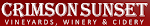 Logo for Crimson Sunset Vineyards, Winery & Cidery