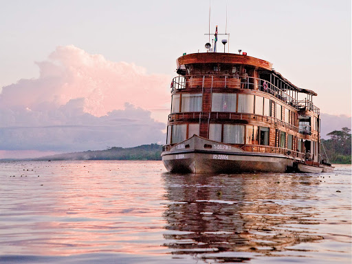 Delfin-II-on-amazon.jpg -  Delfin II sails down the Amazon River during a Lindblad expedition.
