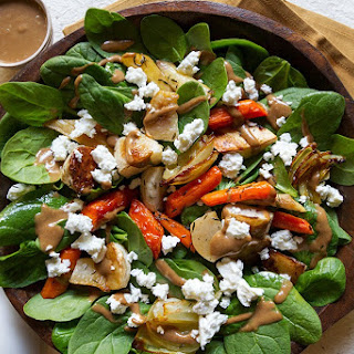 Root Vegetable Salad with Balsamic-Date Dressing