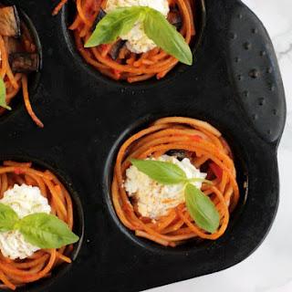 Sicilian Norma Spaghetti Cupcakes