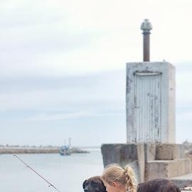 Fishing by Chrismari Van Der Westhuizen - Babies & Children Children Candids ( dogs, nature, outdoors, sea, children, ocean, childhood, fishing, kids )