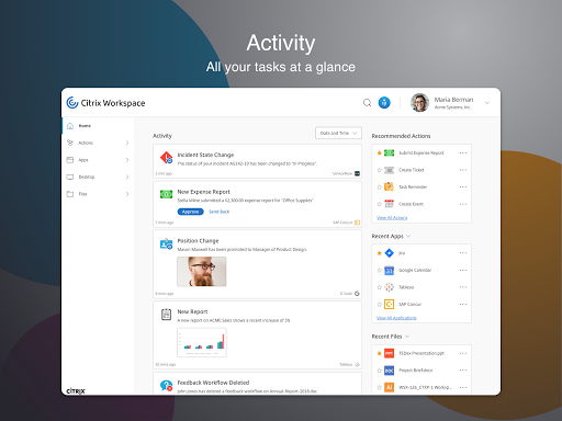 Citrix Workspace 19.09.0.0 Apk for Android 9