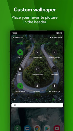 Power Shade: Notification Panel & Quick Settings android2mod screenshots 4