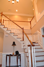 Photo: (After) Cirelli's foyer stairs, Wainscot Perkasie, PA