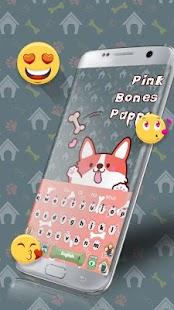 Pink bones puppy keyboard - náhled