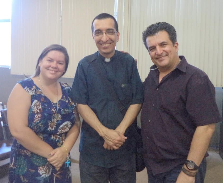 Elaine Oliveira, pe. Celio Calixto, Alexandre Martins