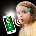 Flashlight by whistle - flash icon