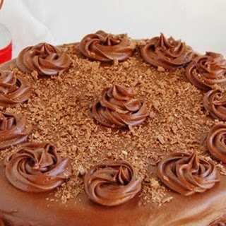 Eggless Chocolate Cake With Chocolate Frosting.