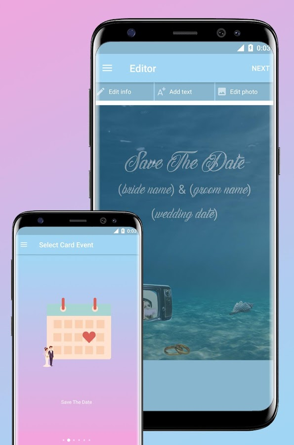 Invitations Card Maker (Gif/Video)- screenshot