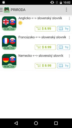 Príroda Slovak dictionaries