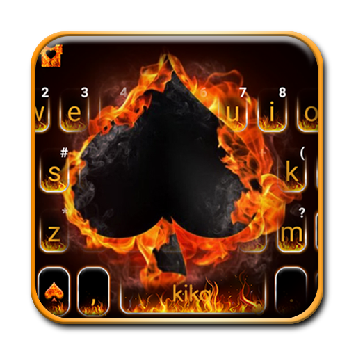 Fire Burning Ace Keyboard Theme Icon