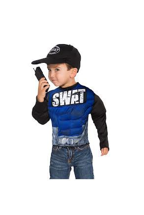 Barndräkt, muskulös SWAT 4-6 år