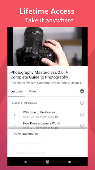 Udemy - Online Courses screenshot for Android