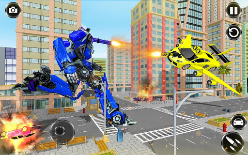 Flying Car- Super Robot Transformation Simulator apkpoly screenshots 17