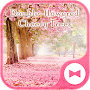 Cute Wallpaper Double-flowered Cheery Trees Theme APK icon