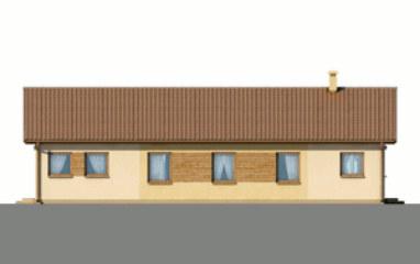 D09 - Lucyna wersja drewniana - Elewacja tylna