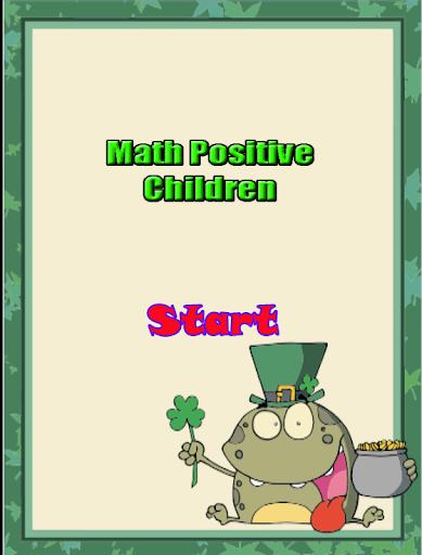 Math Positive Children