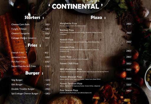The London Shakes menu 2