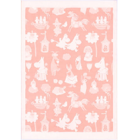 Ekelund Barnfilt Moomin Valley Pink