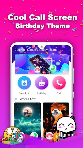 Cool Call Screen-Birthday Theme screenshot 2