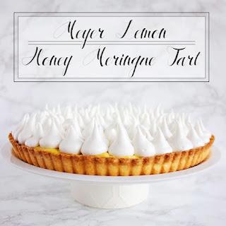 Meyer Lemon Honey Meringue Tart