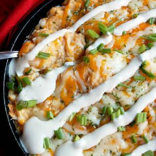Buffalo Chicken Ranch Potato Casserole with Hidden Valley® Ranch.